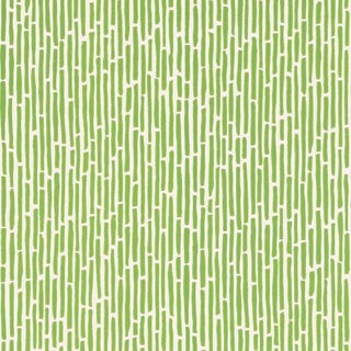 Sample - Schumacher Bamboo Wallpaper in Spring For Sale
