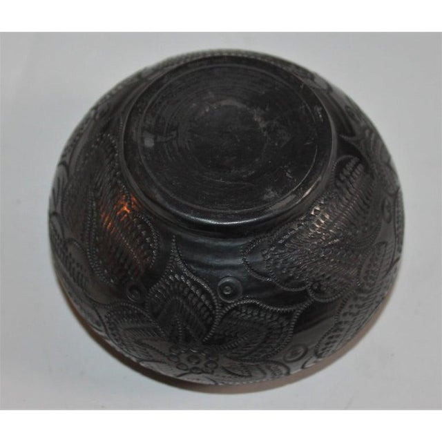Boho Chic Signed Navajo Indian Pottery Bowl For Sale - Image 3 of 8