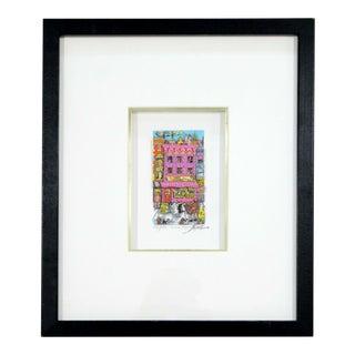 "Contemporary Modern Framed""Kinda Kinky"" 3d Serigraph Signed Fazzino 236/350 1996 For Sale"