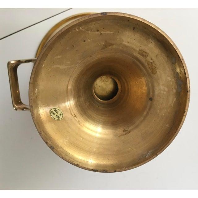 Vintage Brass Urn Shape Champagne Bucket Wine Cooler For Sale - Image 4 of 12