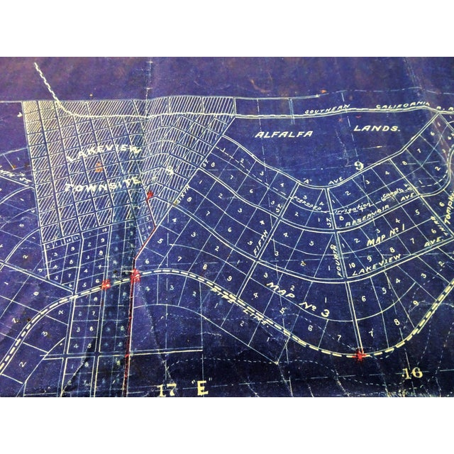 Antique Blue Print Map of Southern California For Sale In Seattle - Image 6 of 13