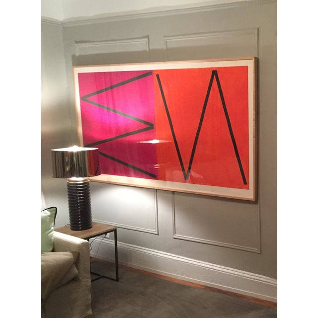 Orange & Pink Abstract by Joaquim Chancho - Image 2 of 4