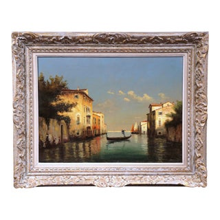 19th Century French Oil On Canvas Venice Painting Signed Brard For Sale
