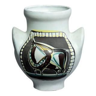 """Roger Capron """"Vase a Oreilles Taureau"""" Ceramic Vase For Sale"""