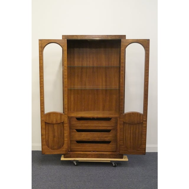 Late 20th Century Mid Century Modern Weiman Lighted Display Cabinet/Wall Unit For Sale - Image 5 of 13