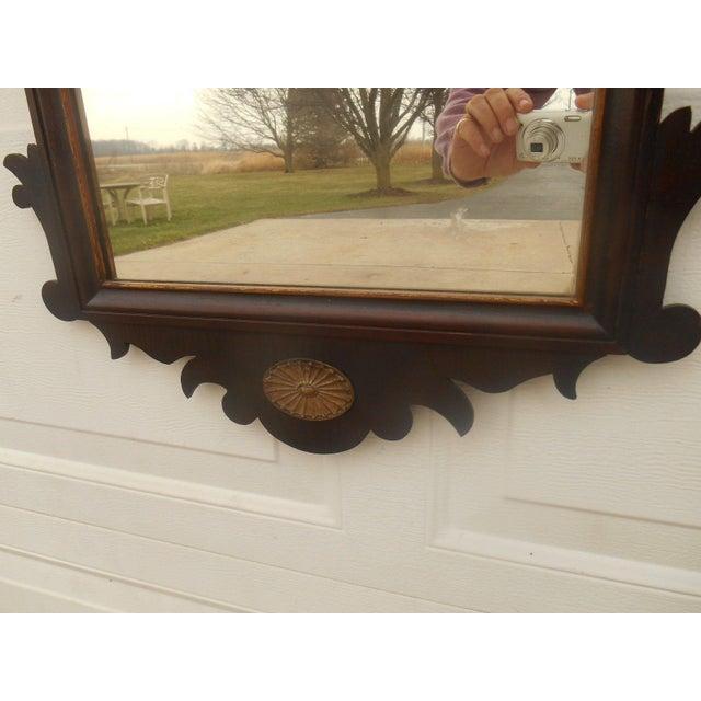 Antique Large Federal Eagle Crest Gold Gilt Mirror - Image 5 of 6