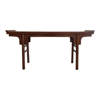 """19th Century Antique Chinese Elmwood Altar/Console Table - 67"""" For Sale"""