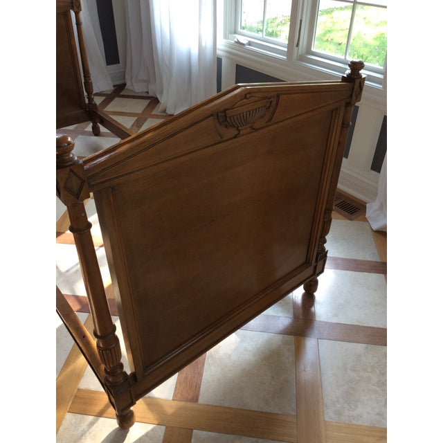 Brown 19th Century French Empire Walnut Bedframe For Sale - Image 8 of 13