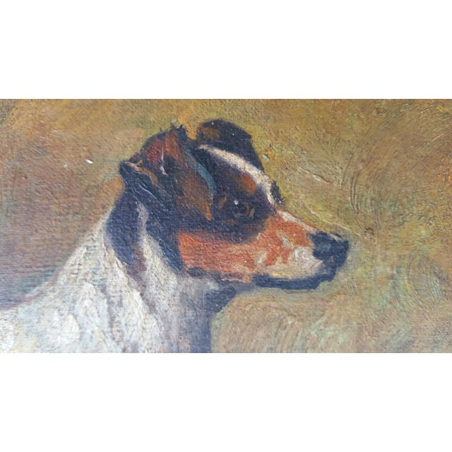 Terrier Dog Oil Painting - Image 5 of 6