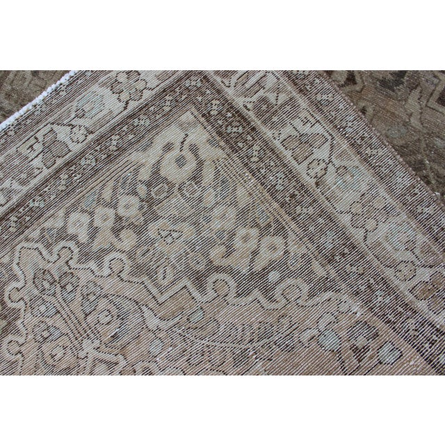 Neutral Tone Vintage Persian Lilihan Rug With Medallion For Sale - Image 11 of 13