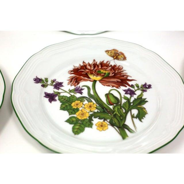 Blue Vintage Bavarian China Floral Salad Plates by Bareuther - Set of 6 For Sale - Image 8 of 12