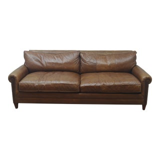 Late 20th Century Ralph Lauren Leather Sofa For Sale