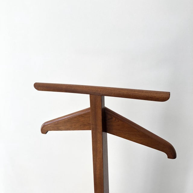 "100% vintage handmade wood butler stand. The top part is slightly twisted. Size: 49.5"" x 12"" x 16.5"" Tray size (the middle..."