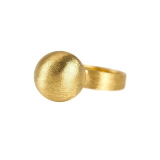 1960s 14 Karat Ball Ring For Sale