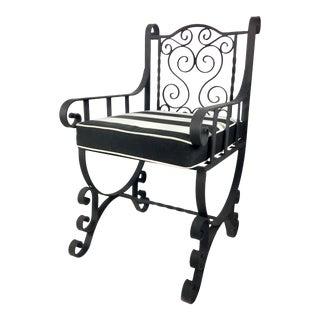 Hand-Wrought Iron Garden Chair