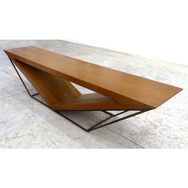 Leonardo Bueno Brazilian Imbuia Wood Sculptural Bench - Image 3 of 8