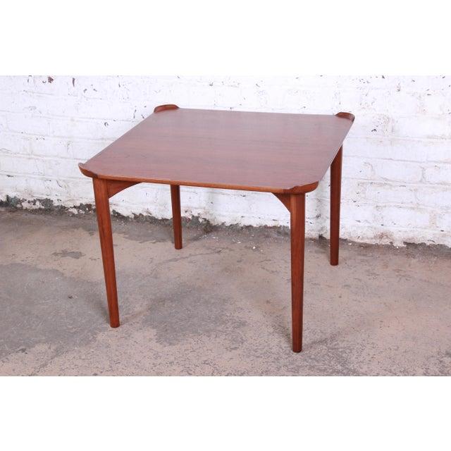 Finn Juhl for Baker Furniture Teak Game Table For Sale - Image 9 of 9