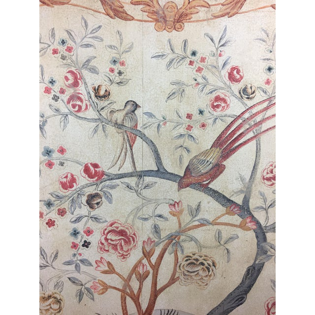 Asian English Rose Gardens & Pheasants Faux Tapestry Panel For Sale - Image 3 of 5