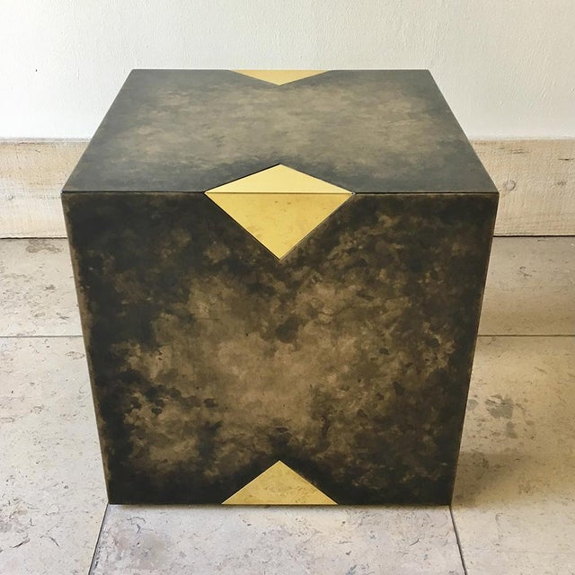 Talisman Bespoke Pair of Square Bronze Collection Side Tables by Talisman Bespoke For Sale - Image 4 of 10