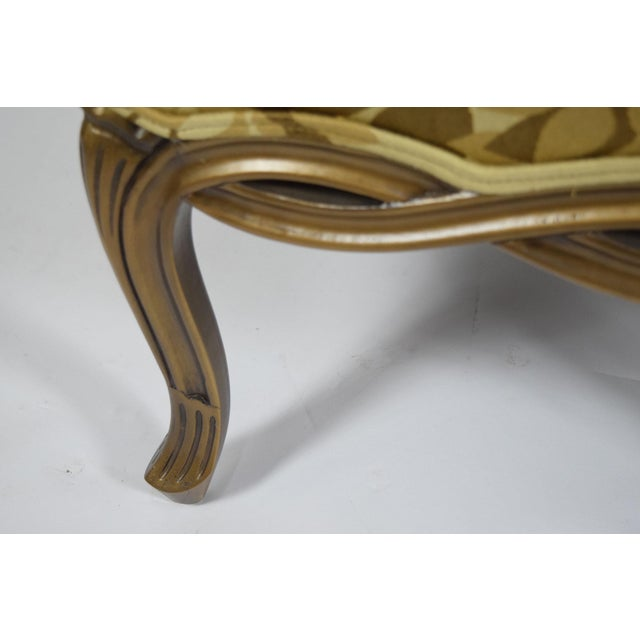 Gold Custom Louis XVI Style Lounge Chairs with Rubelli Fabric - A Pair For Sale - Image 8 of 9