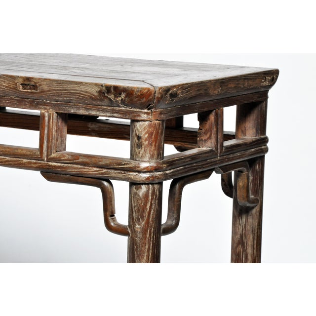 Qing Dynasty Altar Table with Rounded Legs and Original Lacquer - Image 11 of 11