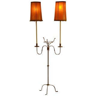 Wrought Iron Floor Lamp For Sale