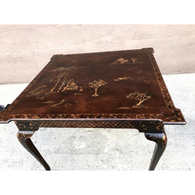 This is a charming mid-century Italian-made large games table or center table. The table is beautifully detailed with...