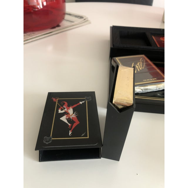 Art Deco Vintage Double Deck Art of Erte Playing Cards, Sobranie of London, 1980's For Sale - Image 3 of 6