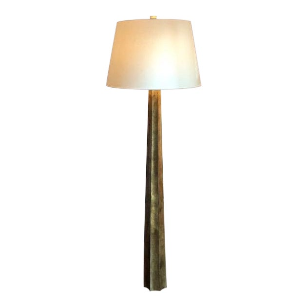Visual Comfort Fluted Spire Floor Lamp For Sale
