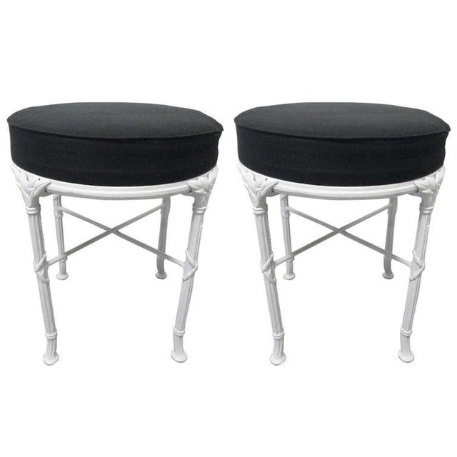 1960s Hollywood Regency Stools For Sale - Image 5 of 5