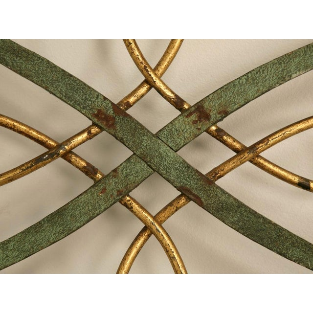 Gold Original Vintage French Iron and Steel Gates/Fire Screens - a pair For Sale - Image 8 of 10