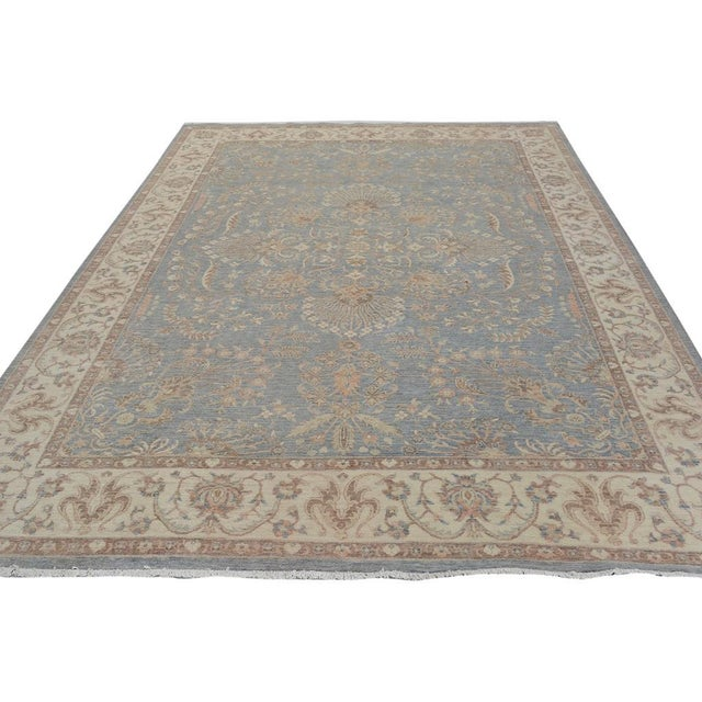Kafkaz Peshawar Carter Gray & Ivory Wool Rug - 8'10 X 11'8 For Sale - Image 4 of 7