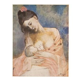 Original 1948 Picasso Mère Et Enfant Lithograph For Sale