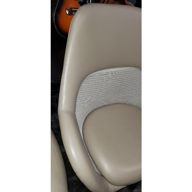 Coalesse for Steelcase Gray Leather Upholstery Lounge Chairs- A Pair For Sale - Image 9 of 13