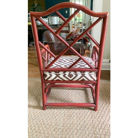 Vintage Chinese Chippendale Fretwork Chair For Sale In New York - Image 6 of 7