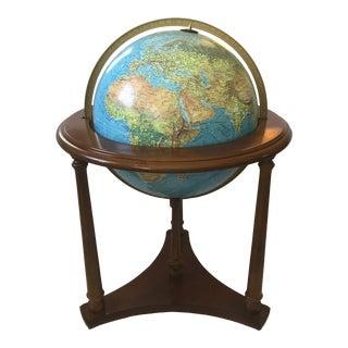 Scan-Globe Illuminated Floor Globe on Walnut Base For Sale