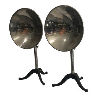 Vintage Industrial Mid Century Modern Adjustable Reflectors - a Pair For Sale