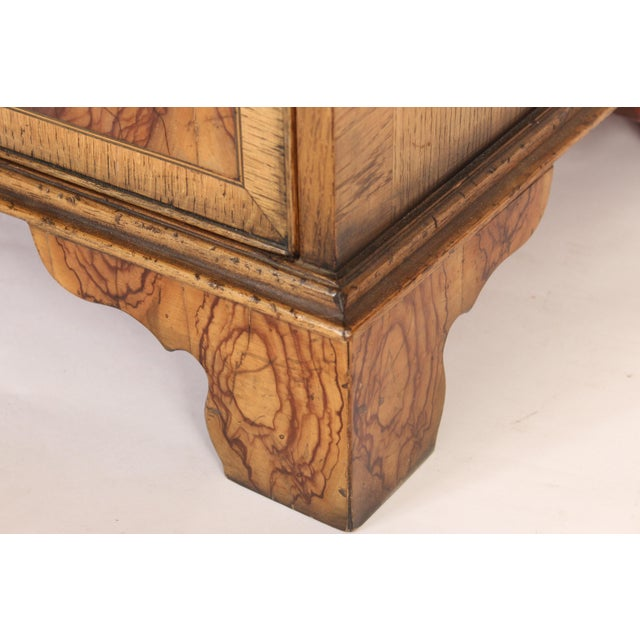 Georgian Style Oyster Burl Chest of Drawers For Sale In Los Angeles - Image 6 of 12