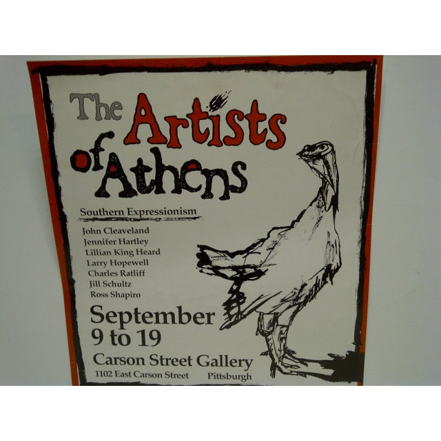 The Artists of Athens Carson Street Gallery Pittsburgh PA Poster - Image 4 of 5