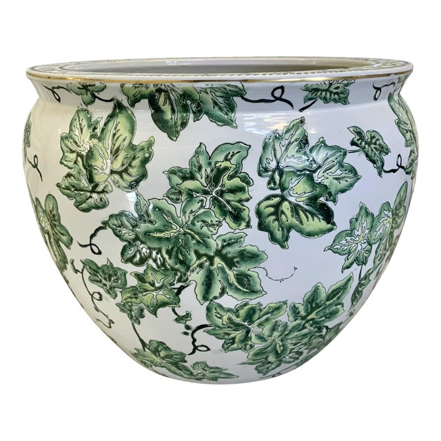 Leaf Motif Jardiniere For Sale
