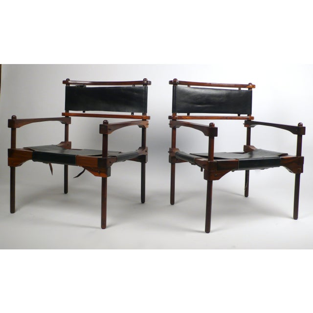 """A rare pair of """"Perno"""" knock-down safari chairs from the Don Shoemaker studio in Mexico. Acquired directly from the artist..."""