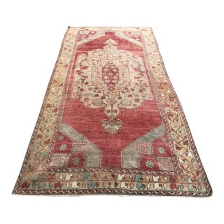 Oushak Handmade Naturel Wool and Wool Rug For Sale