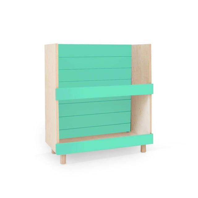 """Nico & Yeye Nico & Yeye Minimo Modern Kids 31"""" Bookcase in Hardwood and Mint For Sale - Image 4 of 4"""