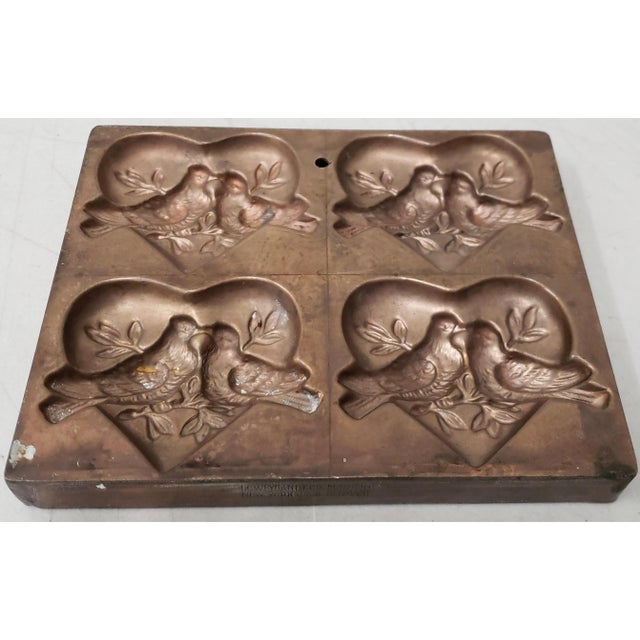 """Antique t.c. Weygandt Co. """"Love Birds"""" Chocolate Mold For Sale - Image 4 of 6"""