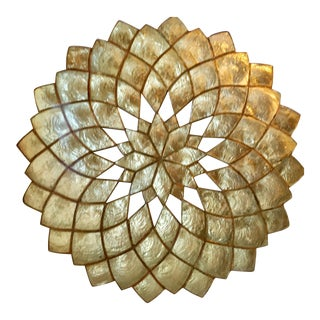 Kim Seybert Capiz Shell Decorative Tray For Sale
