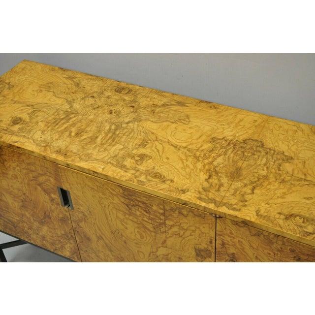 Roger Sprunger for Dunbar Burled Olivewood Credenza For Sale - Image 10 of 13