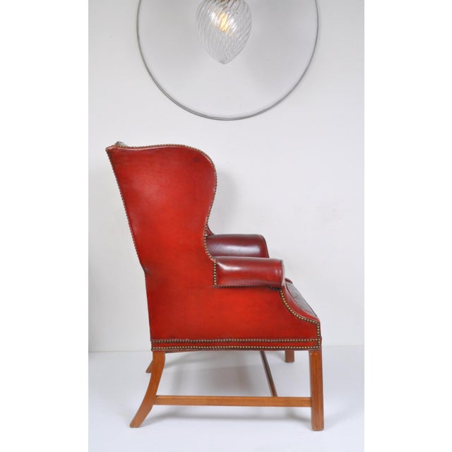 Traditional Wingback Chair, England For Sale - Image 3 of 12