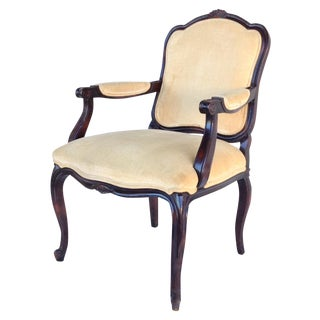 Century Furniture Louis XV Fauteuil Arm Chair For Sale