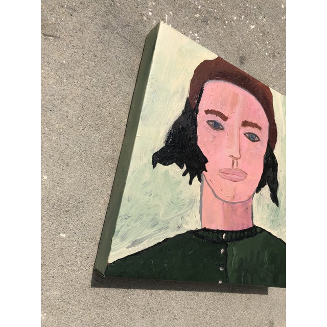 Contemporary Contemporary Oil Portrait by Virginia Chamlee For Sale - Image 3 of 4