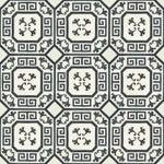 Celerie Kemble Gingko Ink Hardwood Tile - 1 Box, 14 Tiles